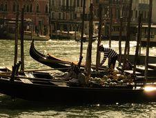 Free Gondolas In Venice Stock Image - 5497561