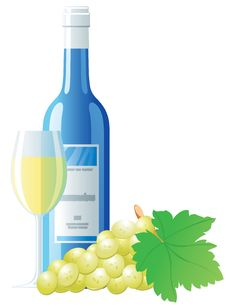 Free White Wine And Grape Royalty Free Stock Images - 5498009