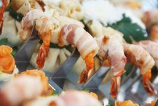 Free Prawns In Bacon Stock Image - 5498571