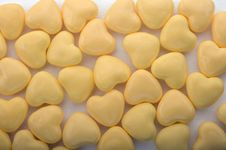 Free Yellow Hearts Background Stock Photo - 5498910