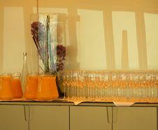 Free Bar With Orange Juice Stock Image - 5499281