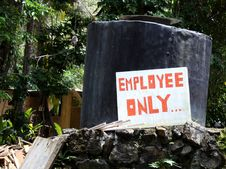 Employee Only Sign Royalty Free Stock Image