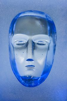 Free Human Face In Glass Block Stock Photo - 5499500