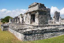 Free Tulum Mayan Site Royalty Free Stock Image - 5499556