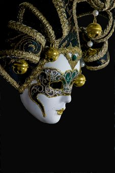 Free Mysterious Venetian Mask Royalty Free Stock Image - 5499596