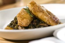 Free Sweetbreads With Lentils Royalty Free Stock Images - 5499749