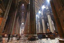 Free The Interior Of Duomo Milan Royalty Free Stock Photo - 5499835