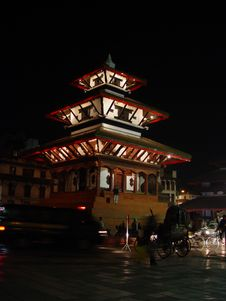 Night In Kathmandu Royalty Free Stock Image