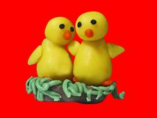Free Two Chicks 2 Stock Images - 552364