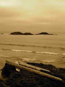 Stormy Seas In Sepia Stock Image