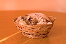Free Shell Basket Close Royalty Free Stock Photos - 555568