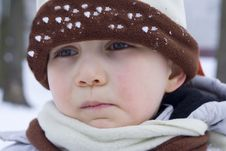 Free Boy On Snow Royalty Free Stock Image - 557386