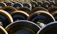 Free Pattern Shot Of Trainwheels. Royalty Free Stock Photo - 557465