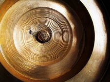 Free Brass Wheel Or Disc, Close-up Royalty Free Stock Photo - 558145