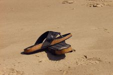 Free Sandals On Beach Stock Photos - 558403
