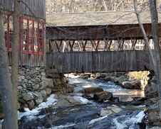 Free Covered Bridge And Building Stock Photos - 558993