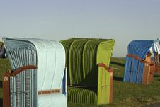 Free Colourful Beach Chairs Stock Photography - 559832