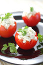 Free Tomatoes Stuffed With Feta Stock Photography - 5500922