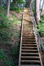 Free Wooden Stairs Stock Image - 5502201