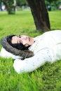 Free Beautiful Girl Lying Stock Image - 5502461