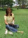 Free Beautiful Girl Reading A Book Royalty Free Stock Photos - 5504398
