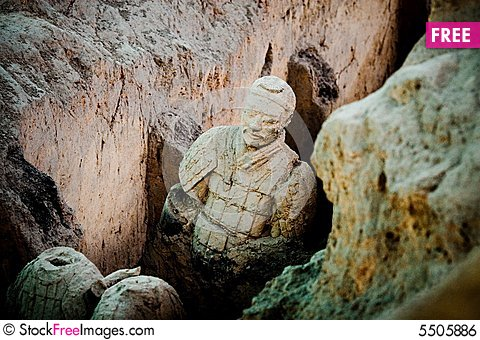 Free Terra Cotta Warriors Of Qin Royalty Free Stock Image - 5505886