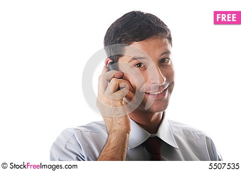 Free On The Phone Royalty Free Stock Photo - 5507535