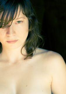 Nude Woman Staring At Camera Royalty Free Stock Images