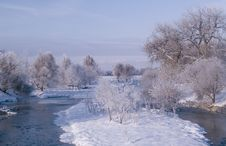 Free Poudre River Winter Stock Photography - 5500242