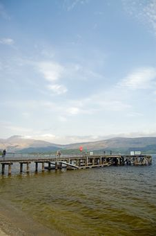 Free Loch Lomond Pier And Landscape Stock Image - 5500771