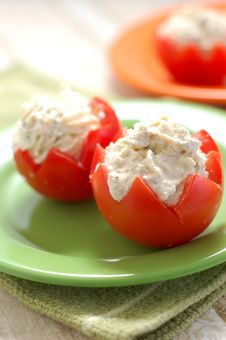 Free Tomatoes Stuffed With Feta Royalty Free Stock Photo - 5500925