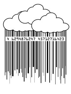 Free Barcode Rain Royalty Free Stock Photo - 5501355