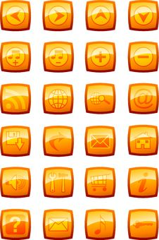 Free Vector Illustration Of Glossy Multimedia Icon Set Royalty Free Stock Photo - 5501385