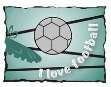 Free I Love Football Royalty Free Stock Photography - 5501707