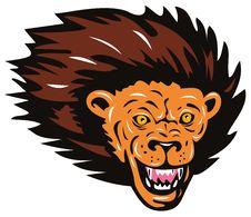 Free Lion Head Royalty Free Stock Photos - 5501778