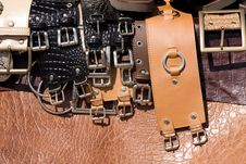 Free Leather Belts Stock Photography - 5502632