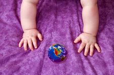 Free The Kid And A Planet Stock Photography - 5502862