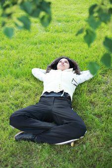 Free Beautiful Girl Lying Royalty Free Stock Photo - 5503005
