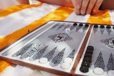 Free Backgammon Game Royalty Free Stock Images - 5503139