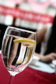 Free Lemon In In Soda Water Royalty Free Stock Photo - 5503185