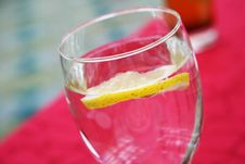 Free Lemon In In Soda Water Royalty Free Stock Photo - 5503205