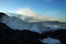 Free Ballintoy Sea Spray Stock Photo - 5503260