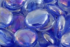 Blue Glass Beads Macro Texture Background Royalty Free Stock Image
