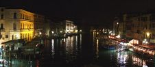 Free Panorama Of Grande Canal Venice By Night Stock Photos - 5504063