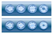 Free Set Of Vector Browser Buttons, On And Off Royalty Free Stock Image - 5504836