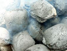 Charcoal - Smoldering Close Up View Stock Photography
