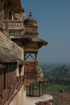 Free Old Balcony Of The Jahangir Palace Royalty Free Stock Images - 5505149