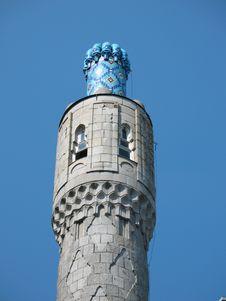 Free The Minaret On The Blue Sky Stock Image - 5505411