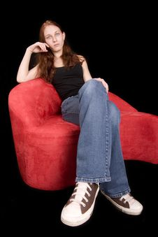 Free Redhead Seated, Distorted Stock Photography - 5505622