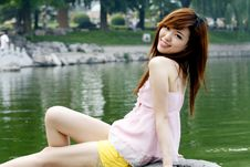 Free A Chinese Girl In Summer . Royalty Free Stock Photo - 5505665